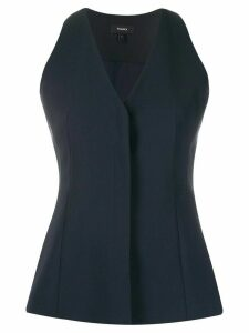 Theory Sculpture v-neck top - Blue
