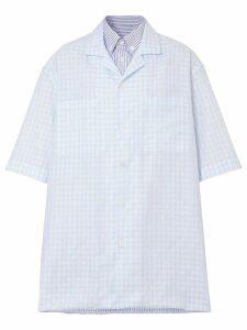 Burberry gingham oversized shirt - Blue