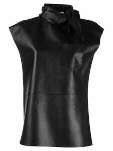 Givenchy neckerchief effect sleeveless top - Black