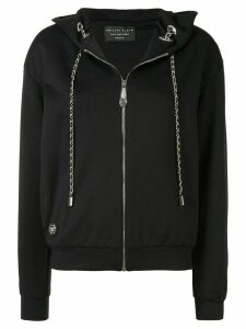 Philipp Plein Teddy Bear print zipped hoodie - Black