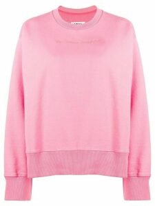Mm6 Maison Margiela embroidered logo sweatshirt - PINK