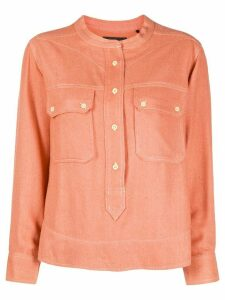 Isabel Marant contrast stitch shirt - ORANGE