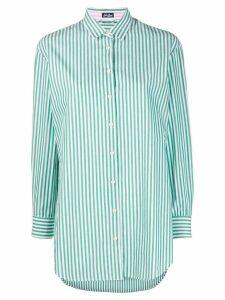 Mc2 Saint Barth embroidered striped shirt - Green