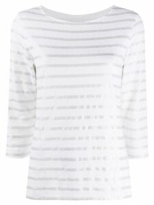 Majestic Filatures metallic stripe T-shirt - White