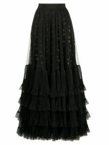 Giambattista Valli tulle ruffle-trimmed skirt - Black