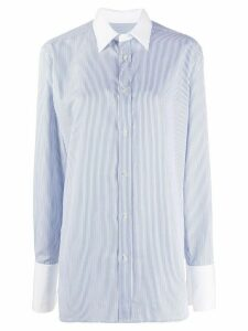 Maison Margiela pinstripe long shirt - Blue