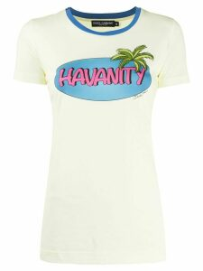 Dolce & Gabbana tropical print T-shirt - Yellow