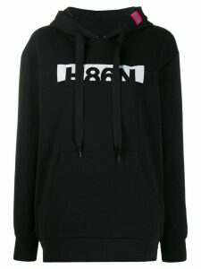 Hogan graphic-print long-sleeved hoodie - Black