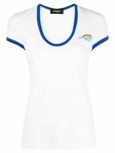 Dsquared2 pride logo print T-shirt - White