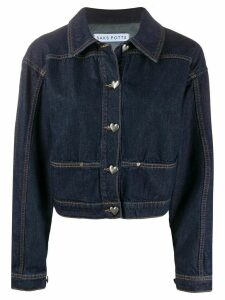 Saks Potts Carmen logo denim jacket - Blue