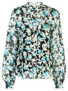 DVF Diane von Furstenberg floral-print shirt - Blue