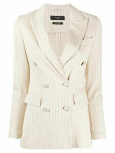 Circolo 1901 striped double-breasted blazer - NEUTRALS