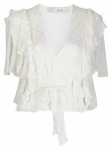 IRO Duvila ruffled blouse - White