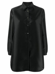 Alberto Biani vent-back satin shirt - Black