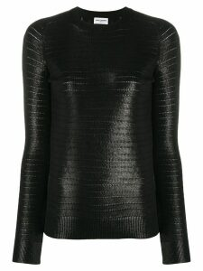 Saint Laurent lame-effect knitted jumper - Black