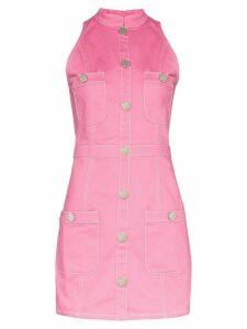 Balmain button detail sleeveless dress - PINK