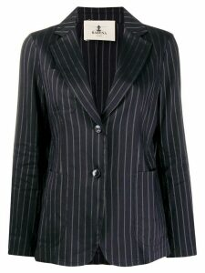 Barena linen-blend striped blazer - Blue