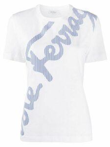 Salvatore Ferragamo logo-print T-shirt - White