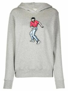 Kirin pixelated dancer plaque hoodie - Grey