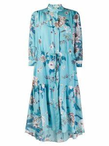DVF Diane von Furstenberg floral print dress - Blue