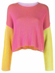 DVF Diane von Furstenberg colour-block jumper - PINK