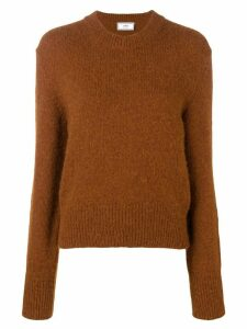 Ami Paris Crew Neck Sweater - Brown