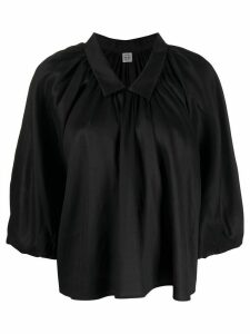 Totême Kerala cropped blouse - Black