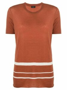Joseph striped cashmere knitted top - ORANGE