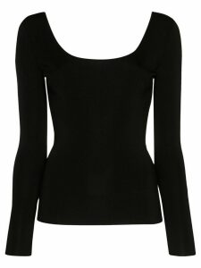 Gucci scoop-neck long-sleeve top - Black