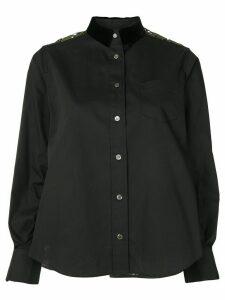 Sacai lace back shirt - Black