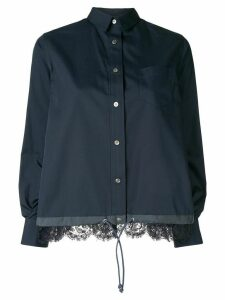 Sacai lace detail shirt - Blue
