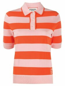Essentiel Antwerp striped polo shirt - ORANGE