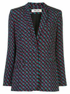 DVF Diane von Furstenberg repeat print blazer - Green