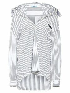 Prada pinstriped loose-fit shirt - Blue