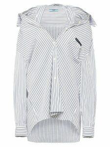 Prada pinstriped loose-fit shirt - Blue
