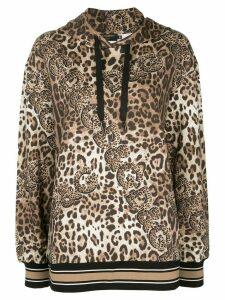 Dolce & Gabbana leopard print hoodie - Brown