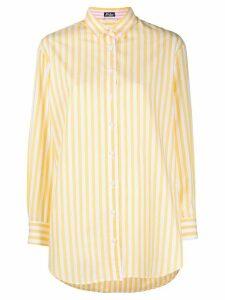 Mc2 Saint Barth Brigitte embroidered striped shirt - Yellow