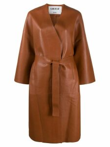 S.W.O.R.D 6.6.44 belted leather coat - Brown