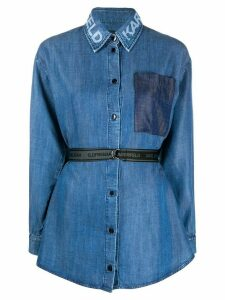Karl Lagerfeld belted denim shirt - Blue
