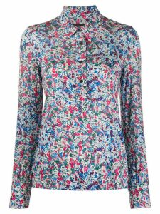 Isabel Marant fitted floral print shirt - Blue