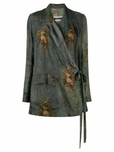 Uma Wang angel print jacket - Blue