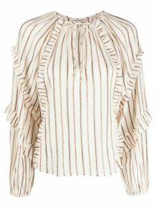 Ulla Johnson Liana striped blouse - NEUTRALS