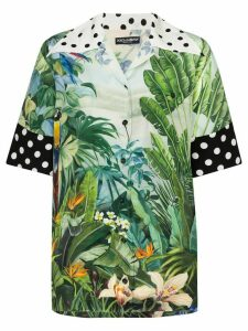 Dolce & Gabbana mixed tropical print oversized short sleeve shirt -