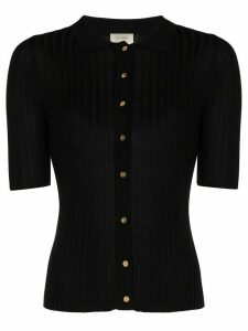 st. agni Arlo ribbed knitted top - Black