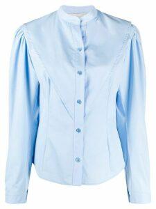Stella McCartney band collared poplin shirt - Blue