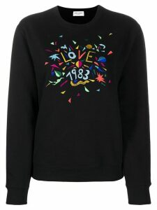 Saint Laurent Love 1983 embroidered sweatshirt - Black