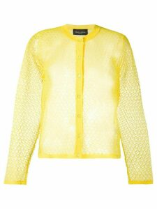 Roberto Collina fine knit cardigan - Yellow