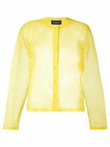 Roberto Collina fine knit cardigan - Yellow