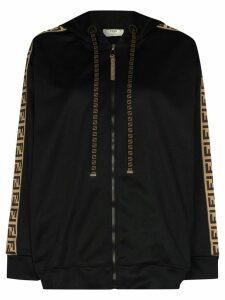 Fendi FF logo-print hoodie - Black