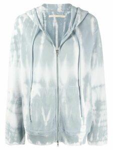 Raquel Allegra tie-dye print hoodie - Blue